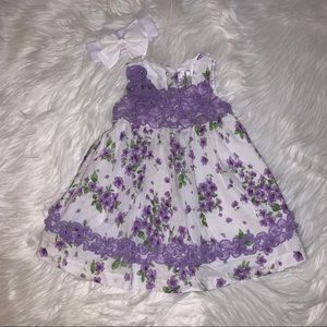 Rare Editions Lilac Spring Dress 12M